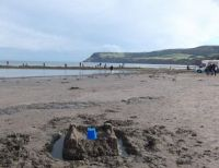 Sandcastle on the beach, Robin Hood's Bay
