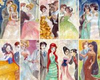 Disney princess artwork