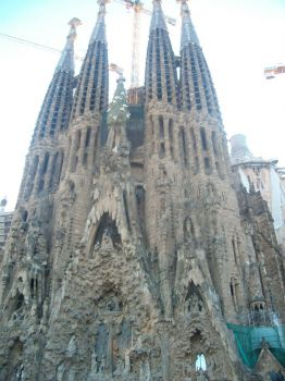 Church Sacral Familia, by Gaudi, Barcelona