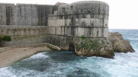 Ancient seawall Dubrovnik