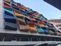 Colourful balconies