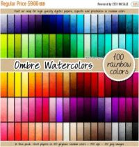 Ombre Watercolors