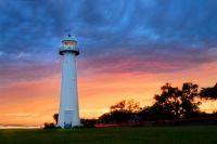 Biloxi Lighthouse sunset