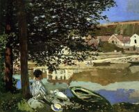 Claude Monet - On the Bank of the Seine, Bennecourt, 1868 (Jun17P04)