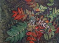Oregon Grape painting by PF Brown