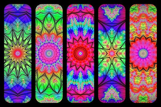 Soft Fractal Flowers - KaleidoBOARDS!