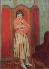 Henri Lebasque (French, 1865–1937), Nono in a Striped Outfit