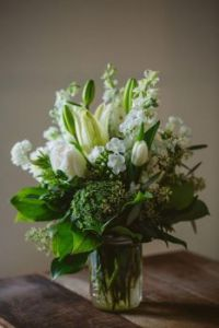 Beauty in Greens and Whites