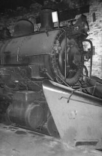 copper range#29 2-8-0_with snowplow_in_roundhouse_year1958
