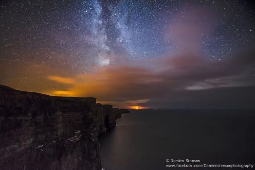 The Milky Way over the Cliffs of Moher