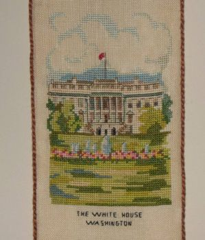 Thread count embroidery - The White House, Washington, D.C.
