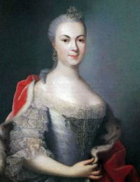 Marie Louise Albertine of Hesse-Darmstadt in a painting around 1753