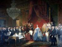 Emperor Napoleon III, Empress Eugenie and their attendants