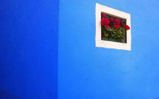 Blue Wall (Burano, Italy; photographer unknown)