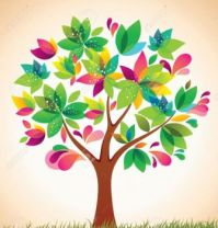 Colorful tree clip art