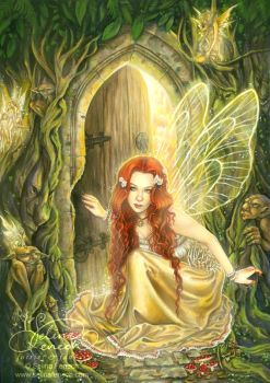 Fairy in doorway
