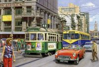 AUSTRALIA - DOWNTOWN MELBOURNE, 1960's