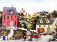 Americana_art_painting__Wagon_Ride
