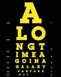 eye chart for racoonstar