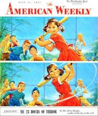 Themes Vintage illustrations/pictures - American Weekly Magazine Cover