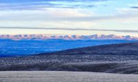 Rattlesnake Hills accross the Yakima Valley, Washington State