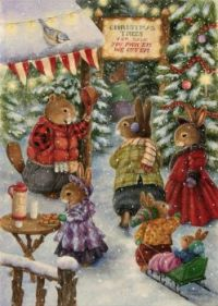 Christmas Trees For Sale - Art by Susan Wheeler