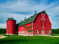 Bright Red Barn ~ Indiana