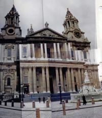 Another view of St. Paul's Cathedral,  London, 1991