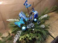 Blue Butterflies and Joy Centrepiece