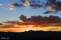 Rocky Mountain sunset, Jackson Hole, Wyoming.  Hard