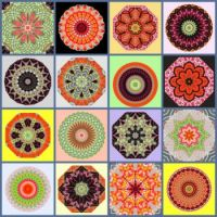 Fabric Kaleido Collage: Medium