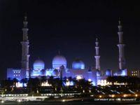 UAE - Abu Dhabi - Sheikh Zayed Grand Mosque by night