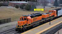 GBB BNSF-1905(SD40-2) & BNSF-54(TEBC6) at Galesburg,IL/USA  45-pc