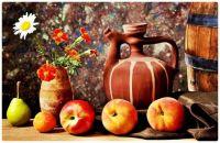 Fresh Fruit, Flowers, and Jugged Wine