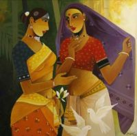 A Quiet Whisper by Painting by Agacharya Paloju