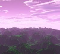 Purple/Emerald Terragen Landscape