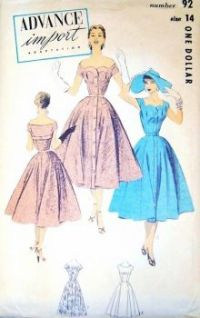 1950's Cocktail Party Dress Pattern