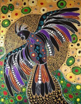 Haida Bird meets Gustav Klimt (kidding!)