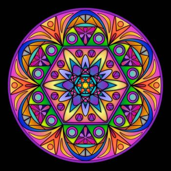 Lively Light Mandala