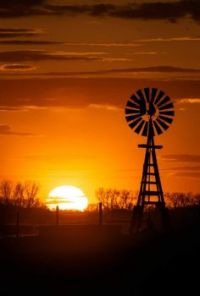 Another Nebraska Windmill and Sunset