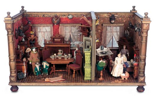 Antique Doll House Rooms