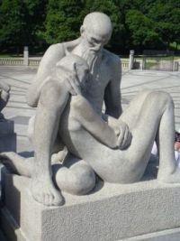 Old couple, Vigeland Collection, Frogner Park, Oslo