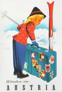Vintage Travel Posters - Winter in Austria
