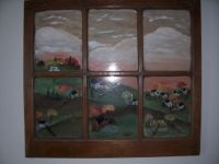 Painting on an old window