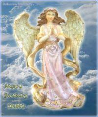 Angel Birthday Blessings e-card (Medium)