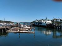 Ferry at dock in Friday Harbor WA
