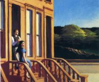 Edward Hopper - Sunlight on Brownstones (1956)