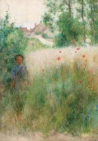 "Carl Larsson, ""Poppies"""