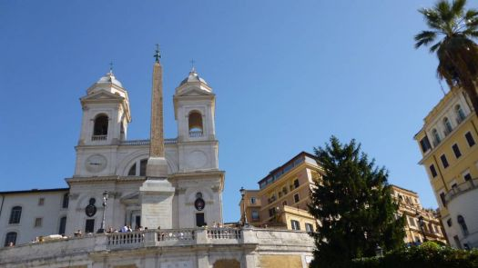 The top of the Spanish Steps in Rome