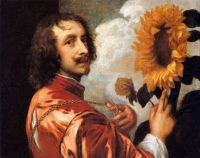 van Dyck's Self portrait with a Sunflower (c.1632)